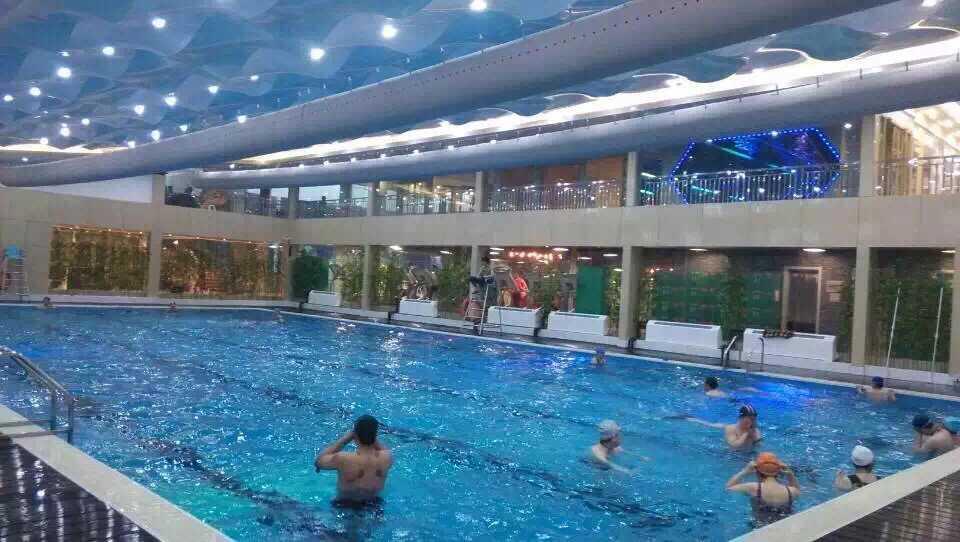 安徽亳州莱美健身会所拆装式游泳池现今使用情况展示——常州中游建造